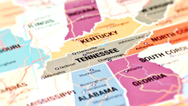 tennessee from usa states - ovest video stock e b–roll