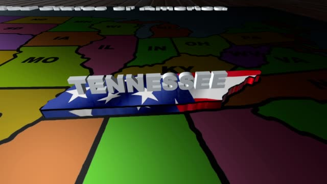 Tennessee pull out from USA states abbreviations map video