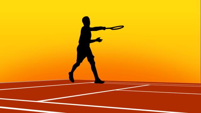 vídeos de stock, filmes e b-roll de pacote de animação do tênis - campeonato esportivo