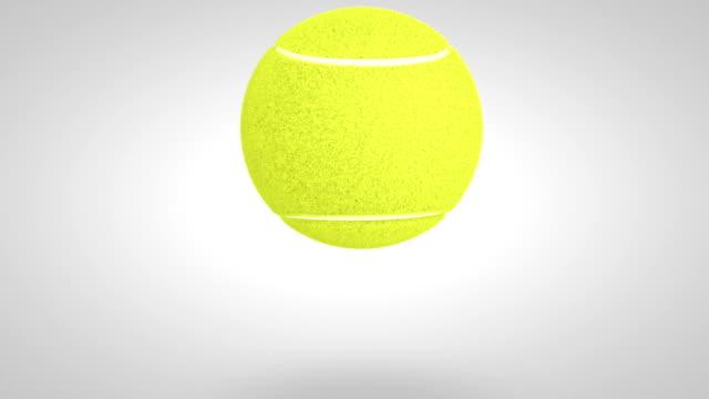 vidéos et rushes de 3 d balle de tennis rebondit 02 - balle ou ballon