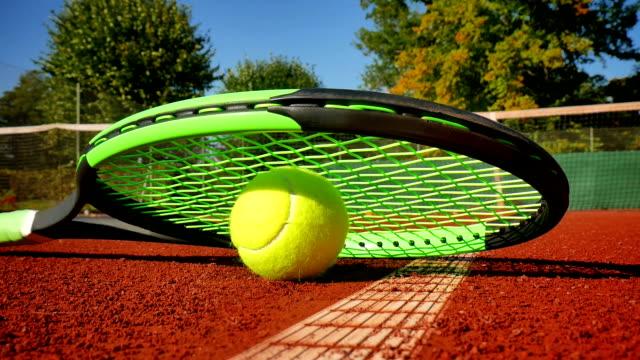 tennis ball on a tennis court video