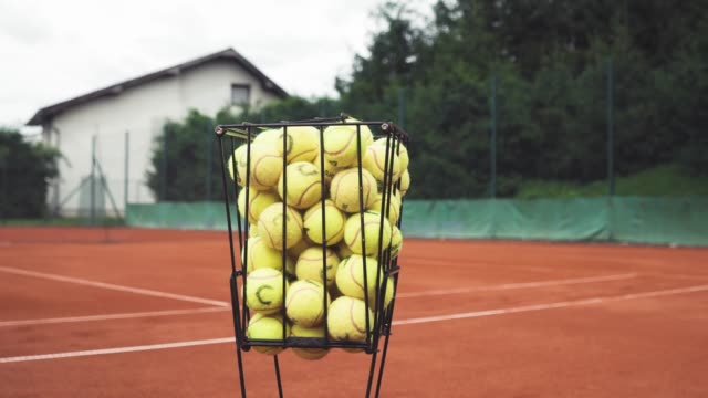 tennis balls waiting to be used - target australia stock videos & royalty-free footage