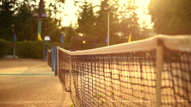 tennis court  and grid for tennis. - tennis stock videos and b-roll footage