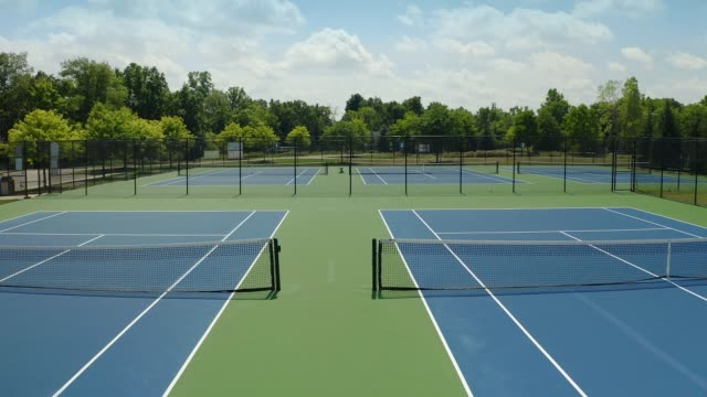 Tennis Courts Arial view of tennis courts teknik stock videos & royalty-free footage