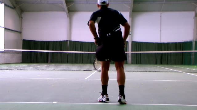 Tennis flat serve video
