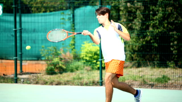 Tennis game. video