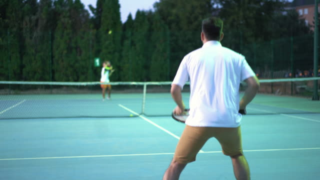 Tennis-Spiel. – Video