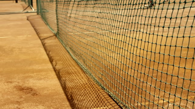 Tennis net with shallow depth of field. video