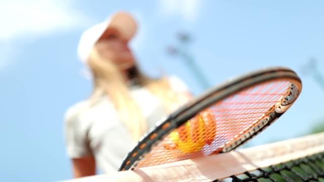 vídeos y material grabado en eventos de stock de jugador de tenis - tenis