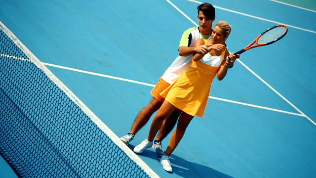 Tennis practice. video