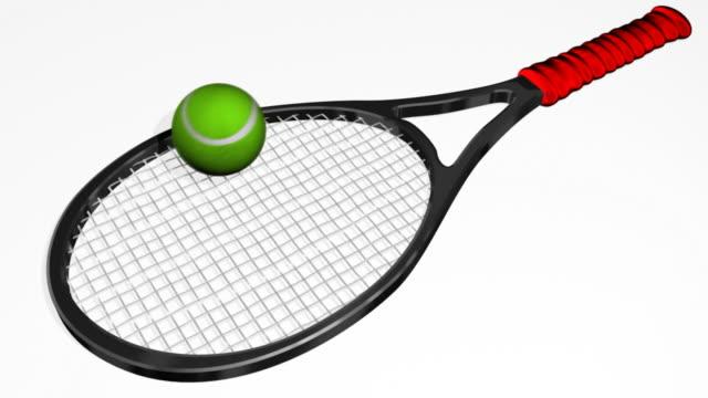 Tennis Racquet Bouncing Ball (HD) video