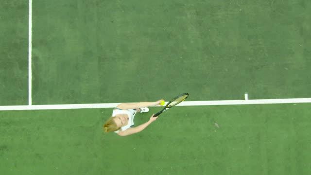Tennis serve in slow motion video