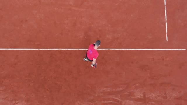 tennis serve - the view from above - target australia stock videos & royalty-free footage