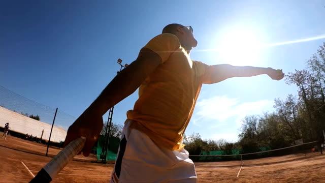 テニスサーブ - テニス点の映像素材/bロール