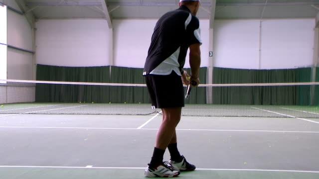 Tennis topspin serve video