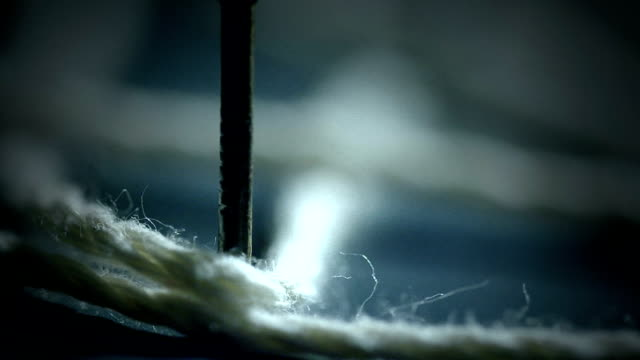 Tension on a small Rope in Slow Motion video