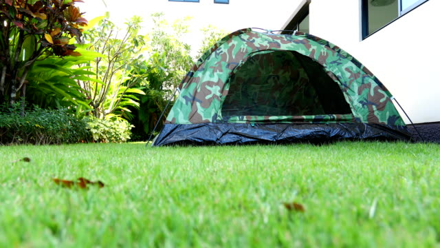 tent on grass of nature camping