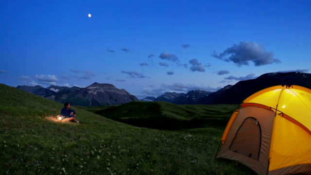 Tenting in the Mountains video