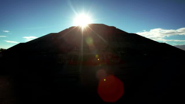 Teotihuacan Sun Pyramid, Mexico video