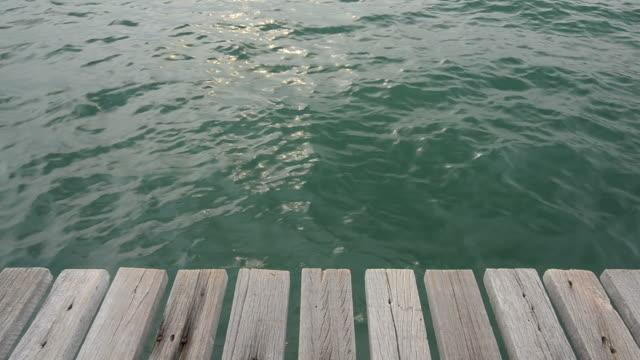 Terrace in sea video