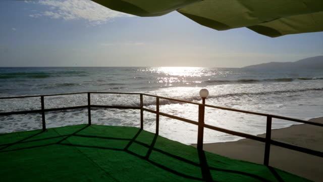Terrace of an hotel near the sea video