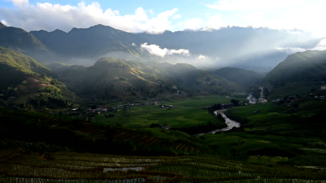 terraced rice field in Sapa, Vietnam video