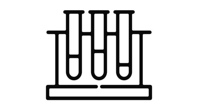 test hattı hareket grafik - biyomedikal animasyonu stok videoları ve detay görüntü çekimi
