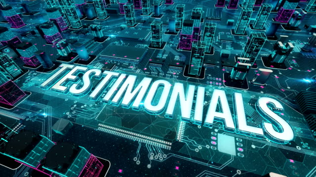 Testimonials with digital technology concept