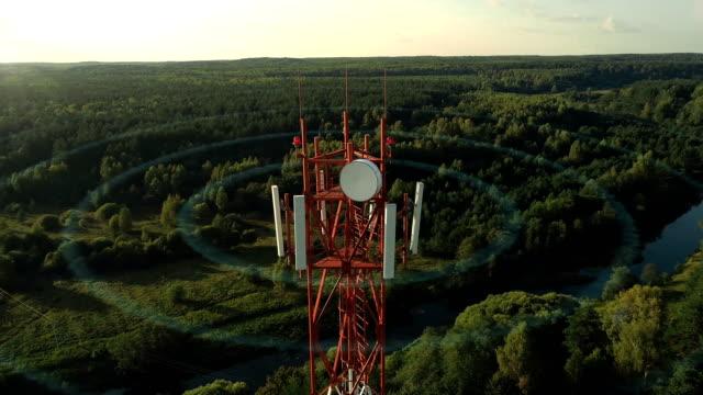 vídeos de stock e filmes b-roll de testing technologies of new generation networks 5g - torre estrutura construída