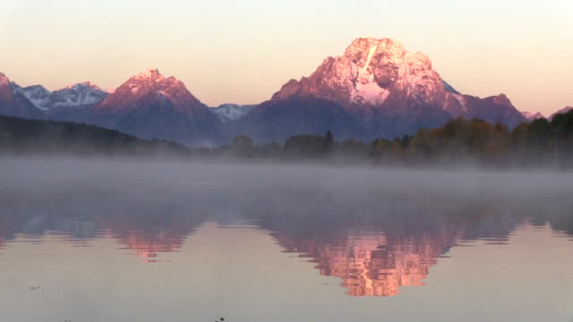 Teton Fall Sunrise Reflection video