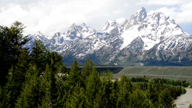 Teton Mountain Range and Snake River video