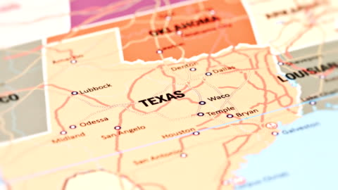 Texas from USA States tracking to Texas from USA States cartography stock videos & royalty-free footage