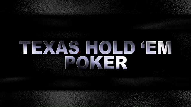 Texas Hold'em Poker Iron Text in Metal Door video