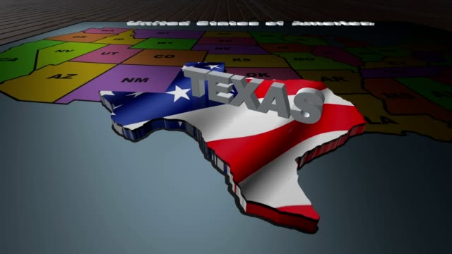 Texas pull out from USA states abbreviations map video