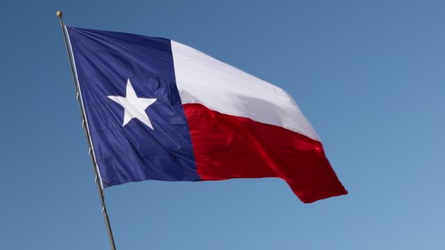 texas state flag - san antonio texas stock videos & royalty-free footage