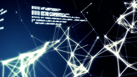 Text and connecting lines against blue background Digitally generated text and connecting lines against blue background digital composite stock videos & royalty-free footage