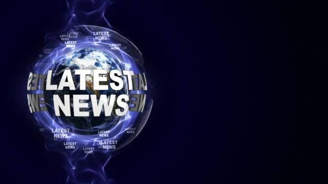 senaste nyheter textanimering och jorden, slinga - paper mass bildbanksvideor och videomaterial från bakom kulisserna