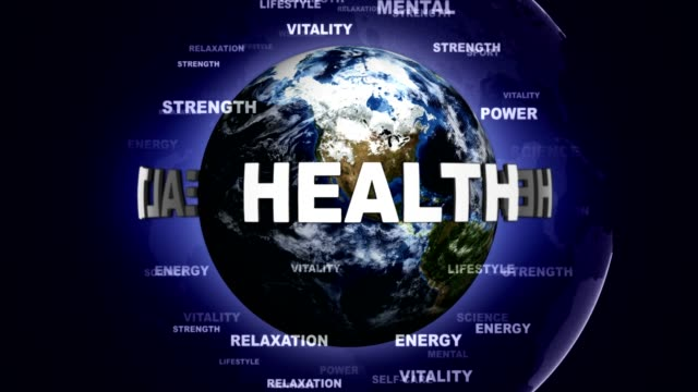 HEALTH Text Animation and Earth, Rendering video