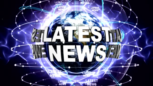senaste nyheter textanimering och jorden, zoom kamera - paper mass bildbanksvideor och videomaterial från bakom kulisserna