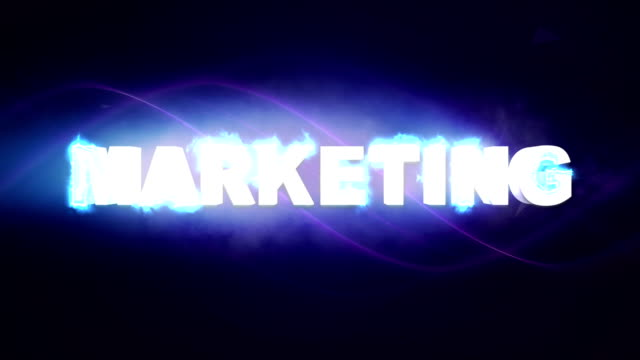 MARKETING Text Animation and Keywords video