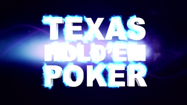 TEXAS HOLD'EM POKER Text Animation and Keywords, with Final Green Screen, Background, Rendering, Loop video