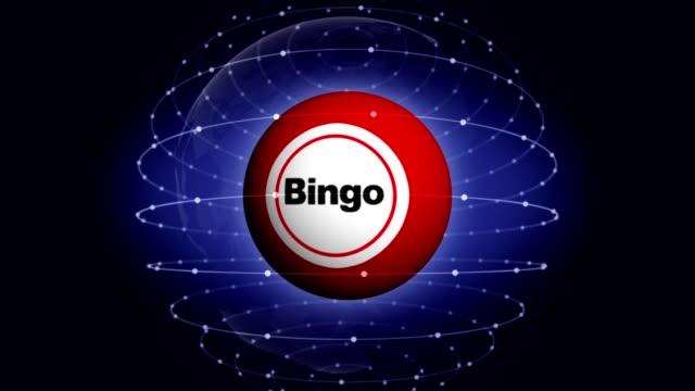 bingo textanimering runt bingo bollen, rendering, bakgrund, loop - bingo bildbanksvideor och videomaterial från bakom kulisserna