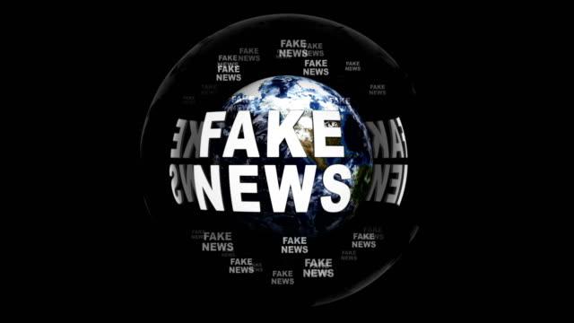 falska nyheter textanimering runt jorden, med alfakanal, rendering, bakgrund, loop - paper mass bildbanksvideor och videomaterial från bakom kulisserna