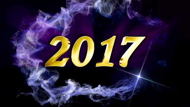 2017, Text Animation Background, Rendering, Loop video