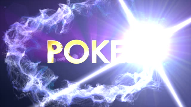 POKER Text Animation in Particles Ring video