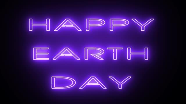 HAPPY EARTH DAY Text, Hintergrund, Computer generieren, einsetzbar für Feiertage festliche Design – Video