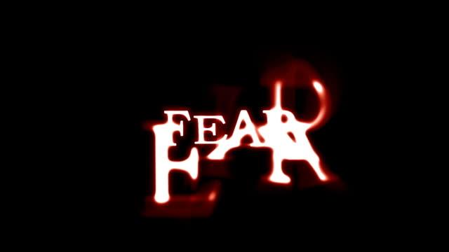 tekst strach z tuszuje i czerwony świeci nad czarny - zachodnie pismo filmów i materiałów b-roll
