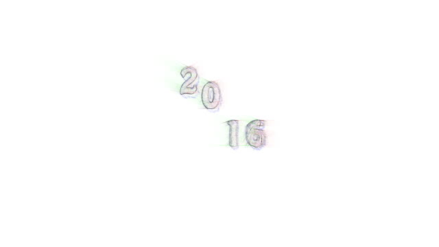 Text jumping 2016 Banner colored pencil writing new year with sound Text jump 2016 Banner colored pencil sketchy writing new year text jump 2016 with sound. Animation year 2016 jumps up and down and get closer and closer. Dolly zoom in. homepage stock videos & royalty-free footage