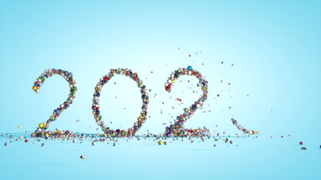 2020 text made of colorful spheres, holiday background, against blue gradient 2020 text made of colorful spheres, holiday background, against blue gradient 2020 stock videos & royalty-free footage