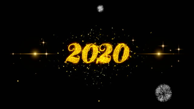 2020_1 Text Particals Golden Text Blinking Particles with Golden Fireworks Display 2020_1 Text Particals Golden Greeting Text Appearance Blinking Particles with Golden Fireworks Display 4K for Greeting card, Celebration, Invitation, calendar, Gift, Events, Message, Holiday, Wishes . 2020 stock videos & royalty-free footage